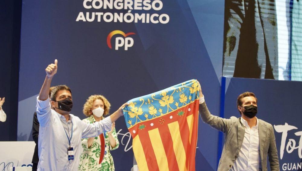 Carlos Mazón y Pablo Casado en el congreso regional del PPCV.