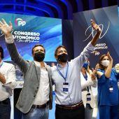 Pablo Casado y Carlos Mazón en el congreso regional del PP de la Comunitat Valenciana.