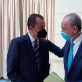 José María Muñoz y Francisco de la Torre en un momento de la presentación