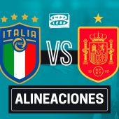 Alineación confirmada de España hoy ante Italia en el partido de la Eurocopa