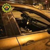 Uno de los vehículos presuntamente robados