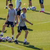 Entrenamiento de España previo al partido ante Italia