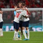 Los jugadores de Inglaterra celebran su pase a la final de la Eurocopa