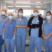 Equipo UCI en Hospital Mancha Centro