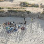 Botellón playa