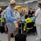 Turistas en el aeropuerto