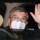 El presidente de COI, Thomas Bach, llega a Tokio