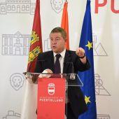 García-Page durante su intervención en Puertollano