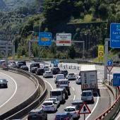 Imagen de retenciones en carreteras españolas.