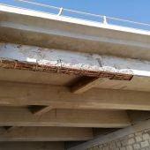 Desperfectos que han sido reparados en el paso elevado de Urbanova