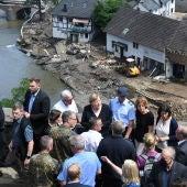 Angela Merkel visita las zonas afectadas por las inundaciones en Alemania