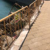 El Gobierno de Cádiz denuncia actos vandálicos en el Paseo Marítimo de Astilleros