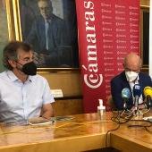Guilermo Palomero, presidente Fundación Oso Pardo, y Nicanor Fernández, presidente Fundación Oso de Asturias