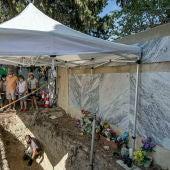 Fosa de represaliados de Trebujena en carpa
