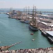 La regata de Cádiz, en una foto de archivo