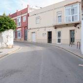 Imagen de la curva de la calle Magallanes de San Fernando