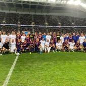 Real Madrid y Barcelona en el partido de veteranos en Tel Aviv