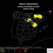 Castellón registra numerosos conatos de incendio por la caída de rayos