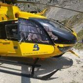 Intervención durante el rescate en la ruta del Cares