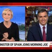 La entrevista viral de Pedro Sánchez en 'Morning Joe' en EEUU