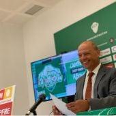 Joaquín Buitrago, presidente del Elche, en la presentación de la campaña de abonos 2021/22.