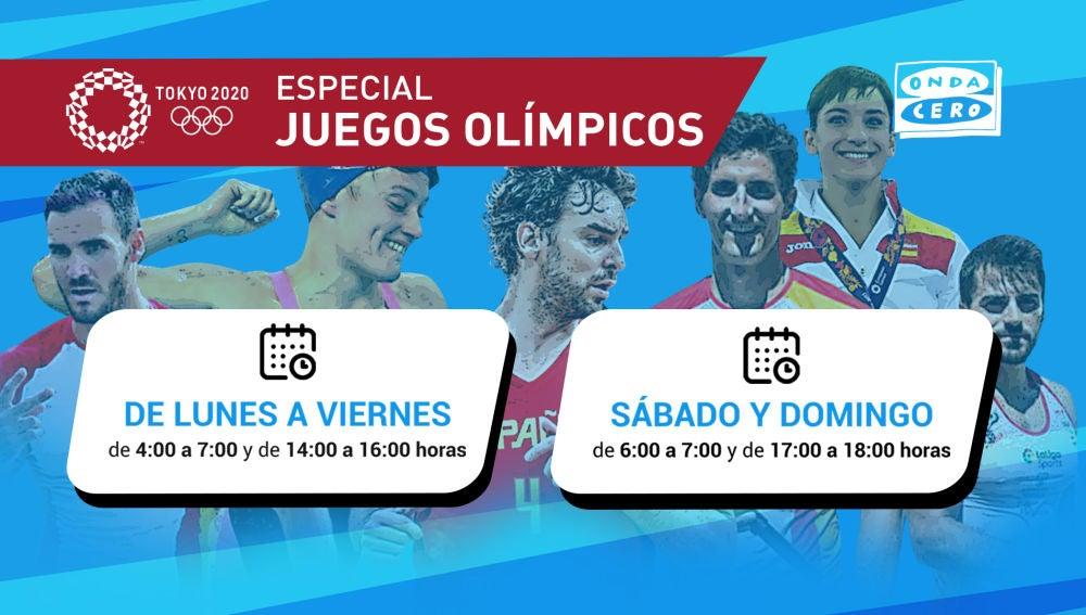 Programa Especial Juegos Olímpicos - Horario