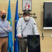 Rueda de prensa de Foro Asturias en el Ayuntamiento de Gijón