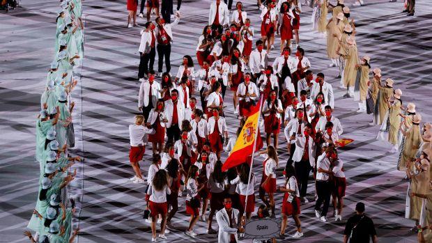 España en la inauguración de los Juegos Olímpicos de Tokio 2020