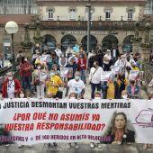 Manifestación por el accidente de tren en Santiago