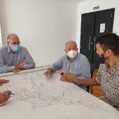 El concejal de Medio Ambiente, Manuel Villar, el director general del Agua, Manuel Aldeguer, y el gerente de EPSAR, Juan Ángel Conca