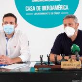 Instantes de la rueda de prensa en la Casa de Iberoamérica en Cádiz