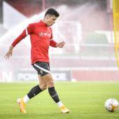 Gaspar Campos, futbolista del Sporting