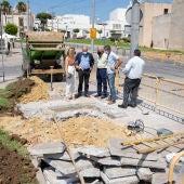 Visita al inicio de las obras en San Fernando