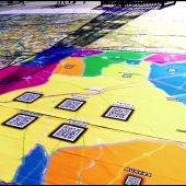 Un mapa gigante interactivo , centro de la Feria y Fiestas de Villarrobledo