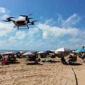 Presentación por el Secretario autonómico de Seguridad y Emergencias, los drones para las playas de Guardamar