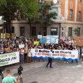 La manifestación comenzó en frente a la Subdelegación del Gobierno en Ciudad Real
