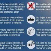 Protección Civil y Emergencias solicita extremar la precaución por la ola de calor que se prolongará hasta el lunes