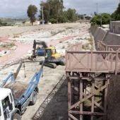Construcción de la pasarela de la Albufereta