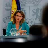 Teresa Ribera, en rueda de prensa tras el Consejo de Ministros