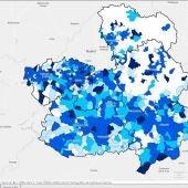 Imagen mapa provincial evolución datos COVID-19