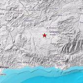 Epicentro del terremoto registrado este jueves por la noche en la provincia de Granada.