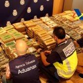 Interceptado en València un alijo de más de una tonelada de cocaína