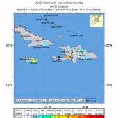 Epicentro del terremoto de 7,2 grados en Haití