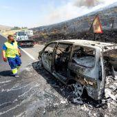 El coche que ha originado el incendio de Ávila