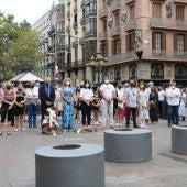 Barcelona recuerda las víctimas de los atentados del 17-A cuatro años después