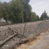 Situación de las vallas de protección de la vía
