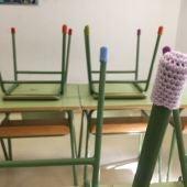 Elaboran las primeras 1.000 botas del proyecto de Apanah para reducir ruidos en las aulas.