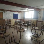 Aula de Primaria en el colegio público Candalix de Elche.