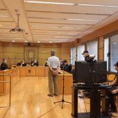 Un momento de la declaración del detenido durante la vista celebrada en la Audiencia de Ciudad Real