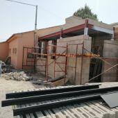 Obras de la futura escuela infantil de Gea de Albarracín